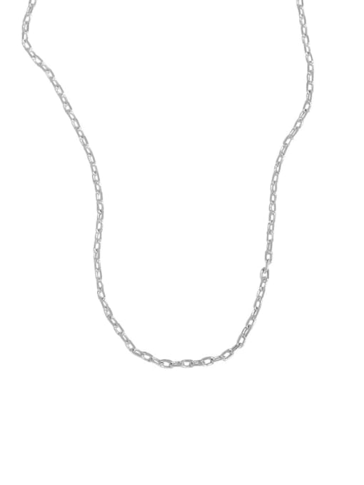 Xlb025 [silver chain, excluding pendant] 925 Sterling Silver Minimalist Letter  Pendant